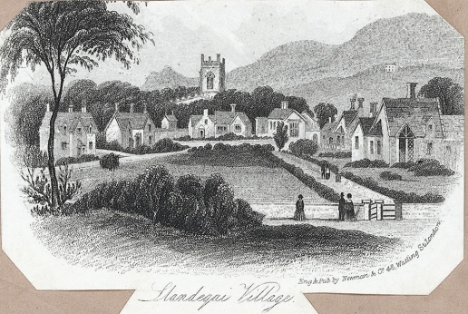 Llandegai village
