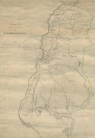 Map Llanllechid 1822